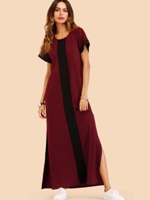Color Block Split Dress