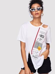 Tag Print T-shirt