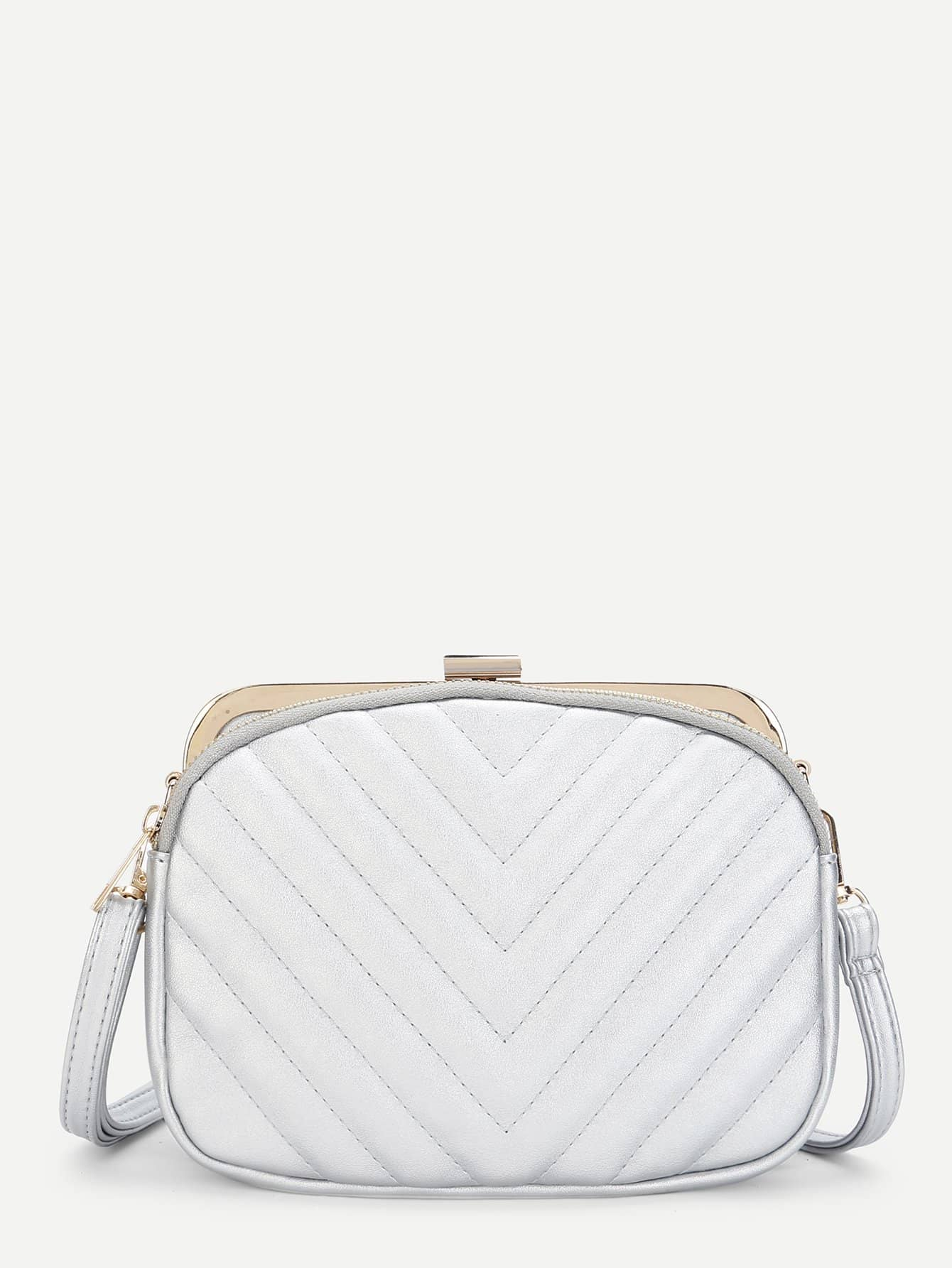 Chevron Detail Clip Top Crossbody Bag адаптер dahua dh pfa100