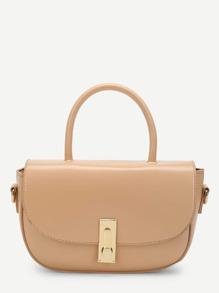 Curved Flap Shoulder Bag