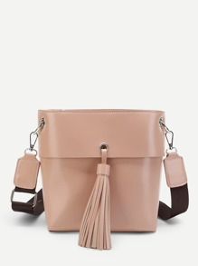 Tassel Decor Shoulder Bag