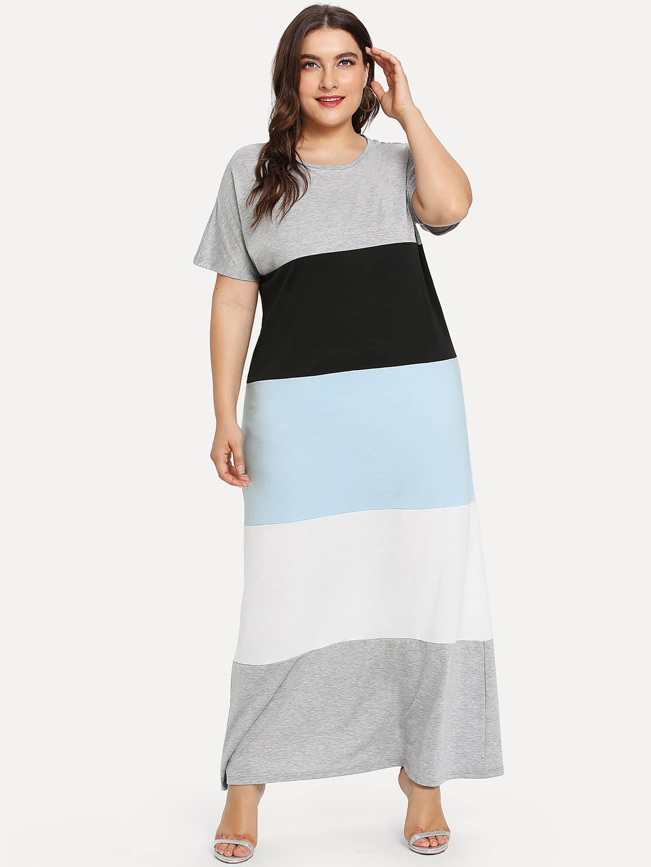 Cut And Sew Color Block Dress color block cut and sew hoodie