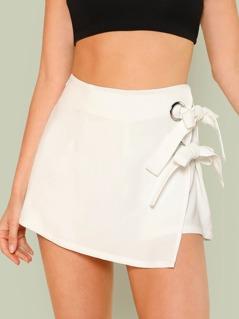 Knot Side Overlap Shorts