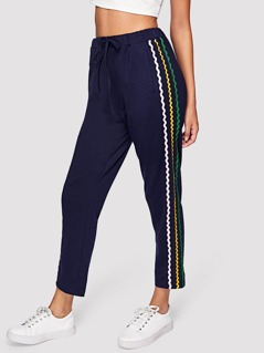 Wave Tape Patched Sweatpants