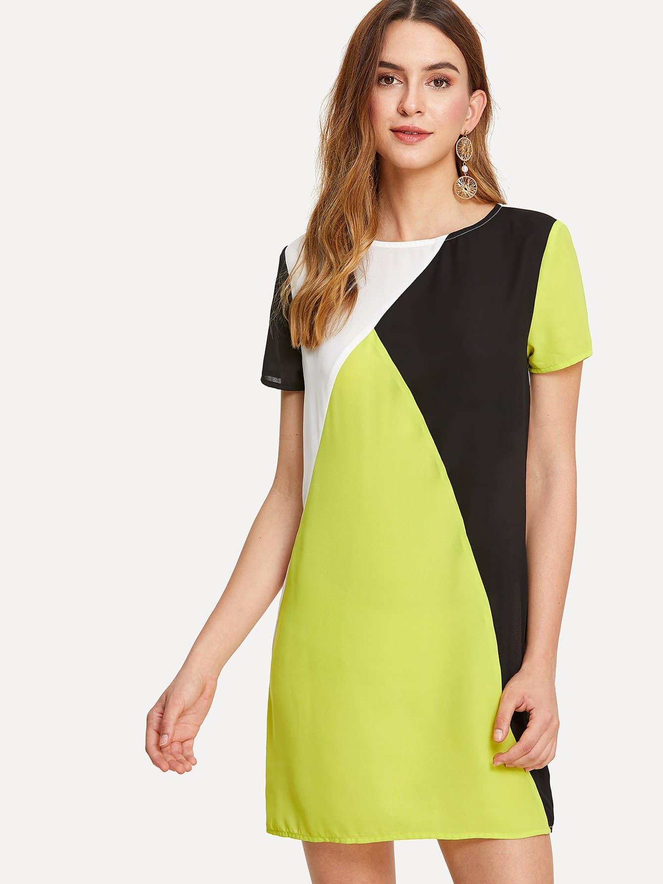Купить Платье туника с разрезом, Jana, SheIn
