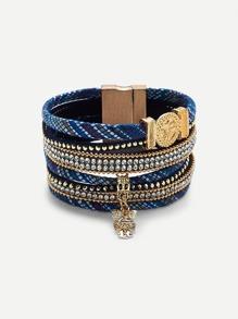 Owl Detail Layered Bracelet