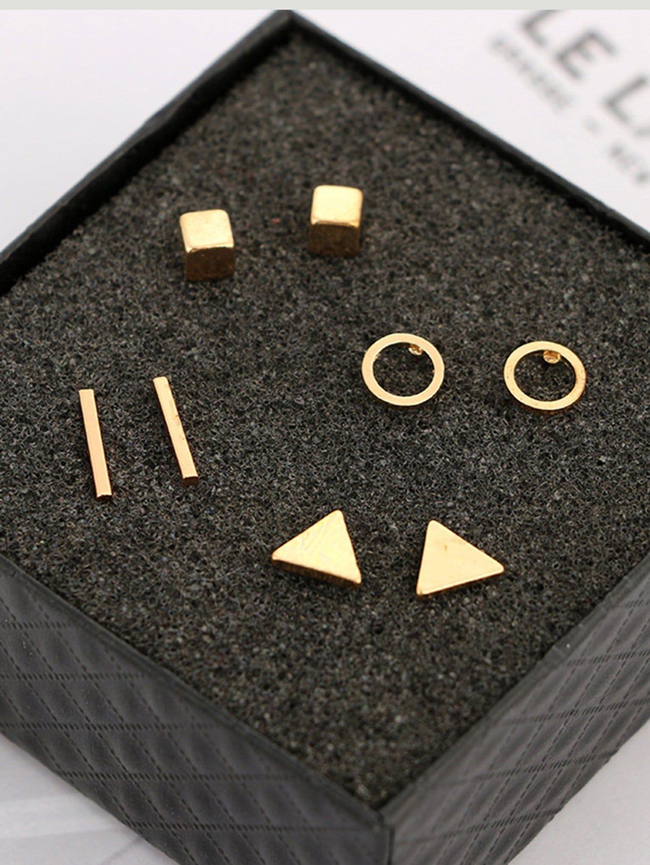 Geometric Stud Earri...