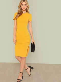 Ruched Detail Sheath Dress