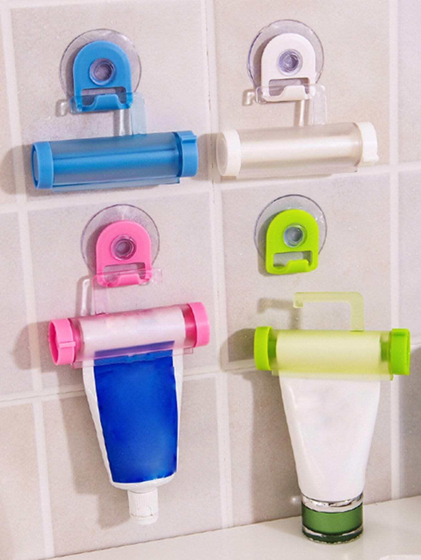 Random Color Toothpaste Squeezer 1pc With Hook random cartoon ceramic tile decal 1pc