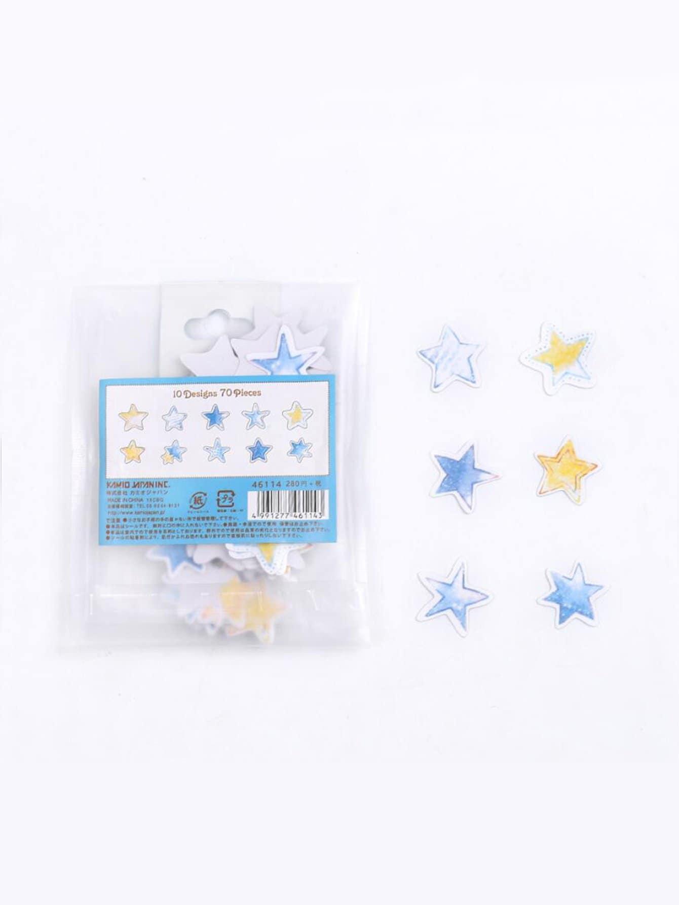 Купить Декоративная наклейка Star Shaped 70 листов, null, SheIn