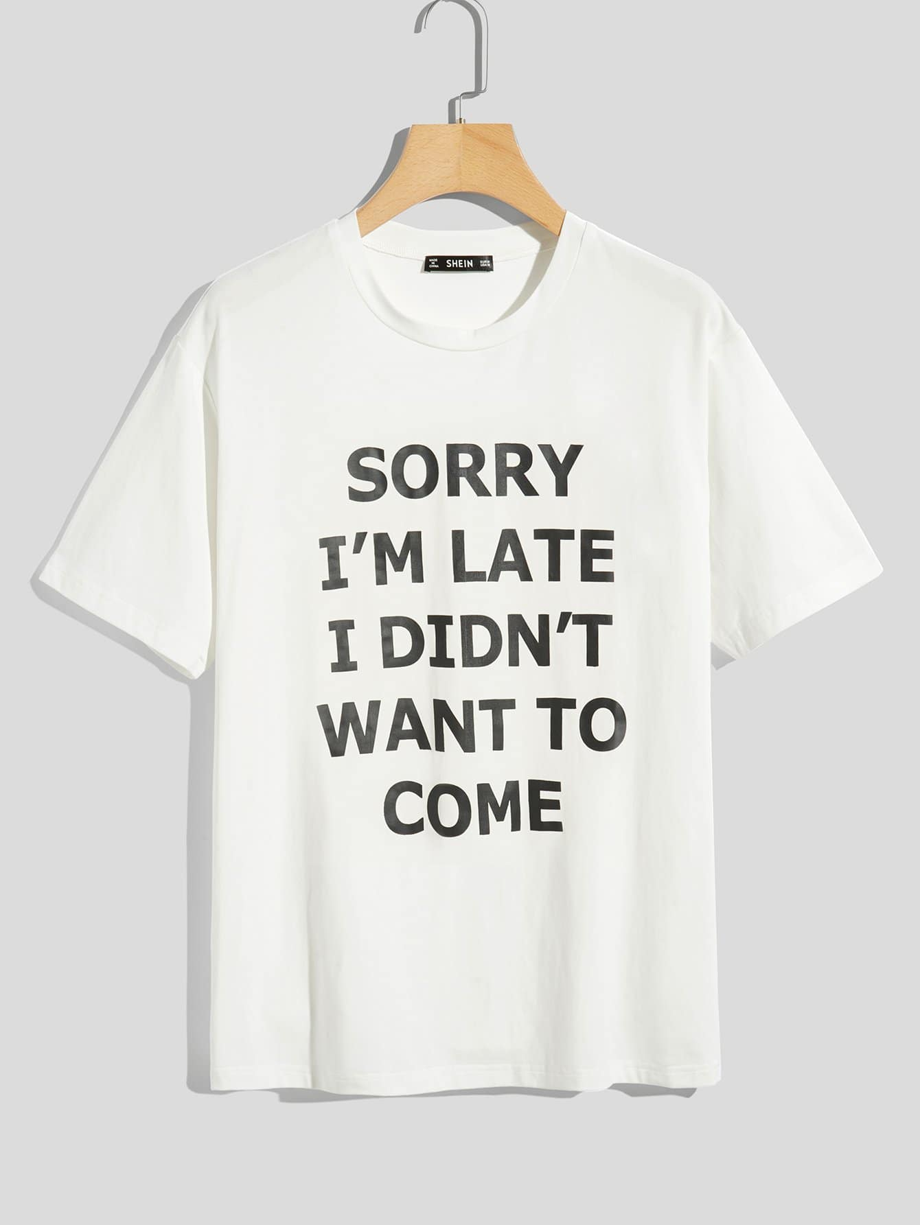 Men Letter Print T-shirt letter and gesture print t shirt