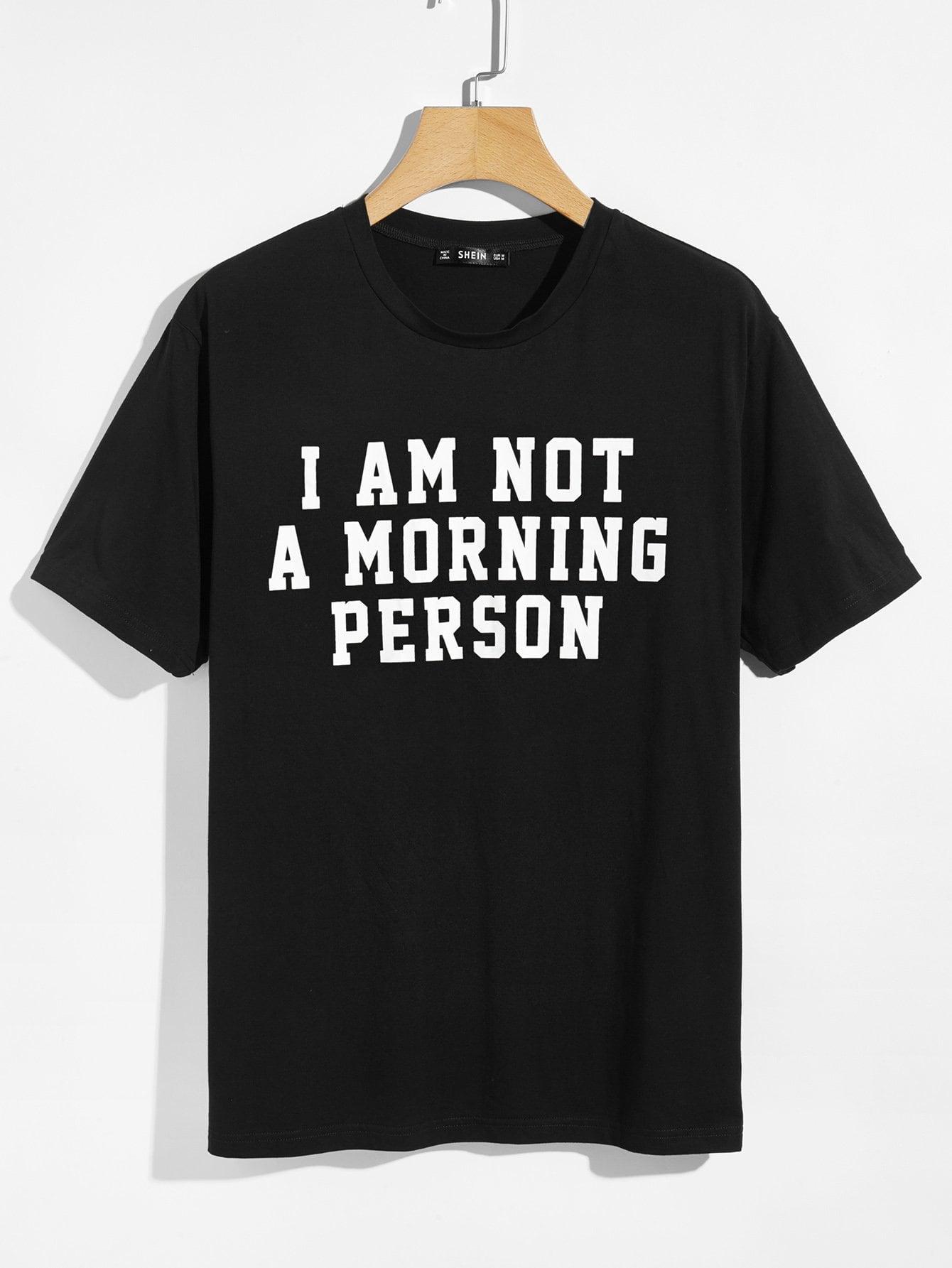 Men Letter Print T-shirt letter print ringer t shirt