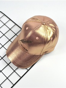 Feather Metallic Baseball Cap