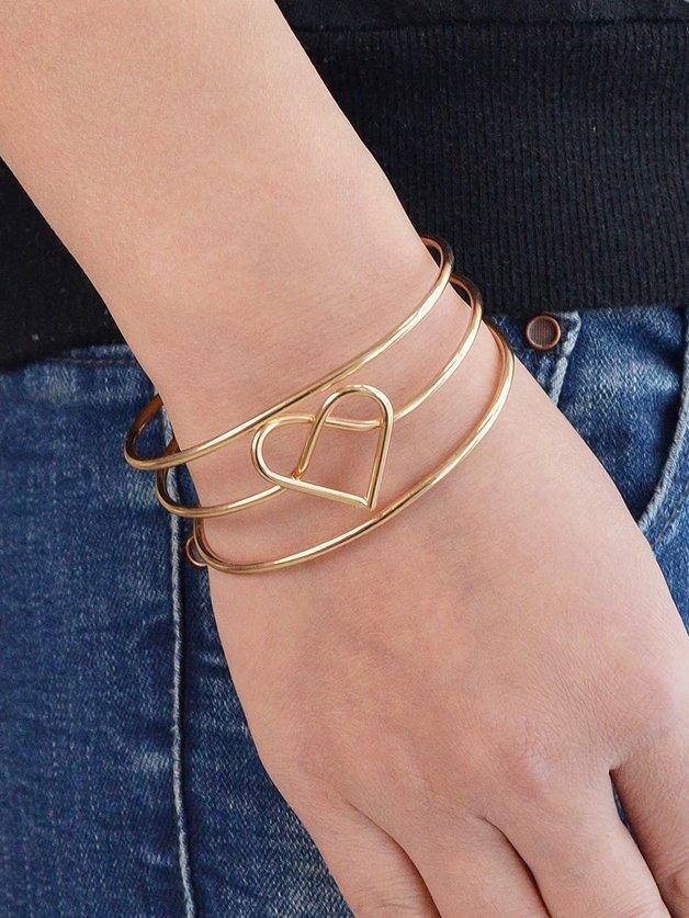 Gold Peach Heart Bracelet heart of gold