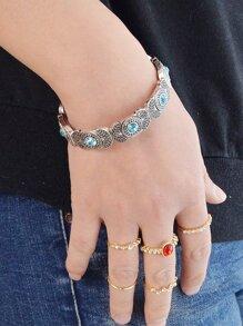 Blue Retro Stretch Bracelet