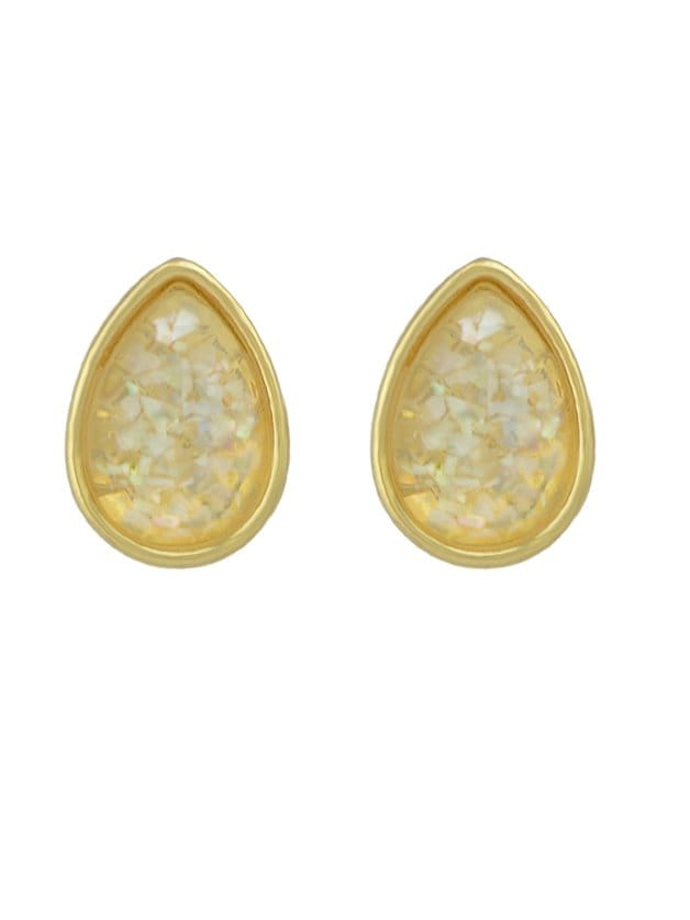 White Water Drop Color Earrings