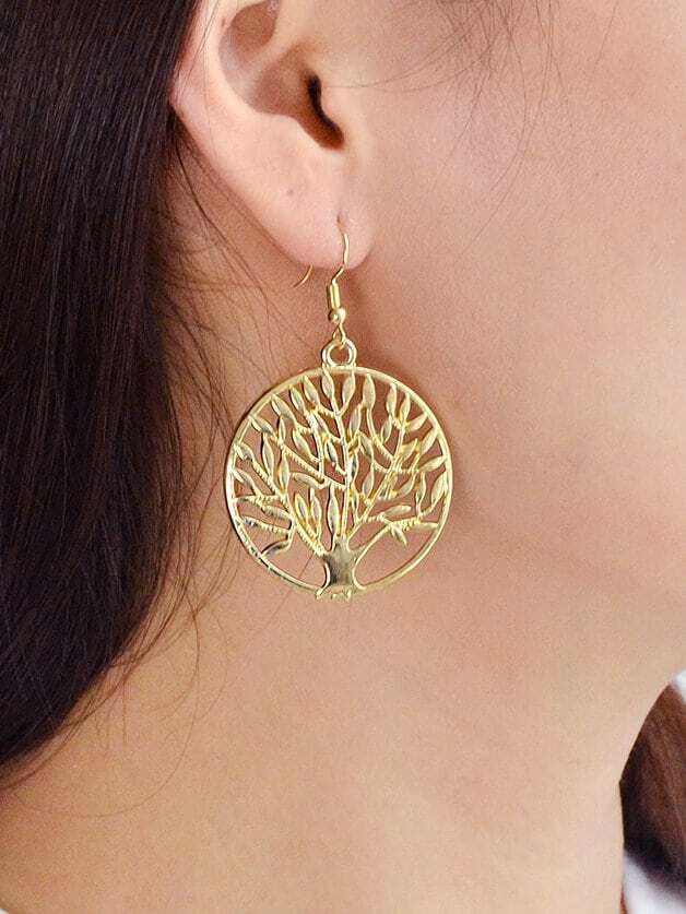 Gold Round Leaf Earrings объектив премиум nikon af s nikkor 24 120mm f 4g ed vr