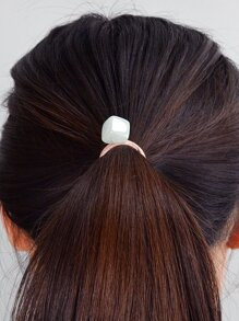 Green Square Hair Ring