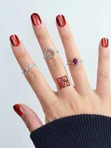 Ruby Love Ring Set
