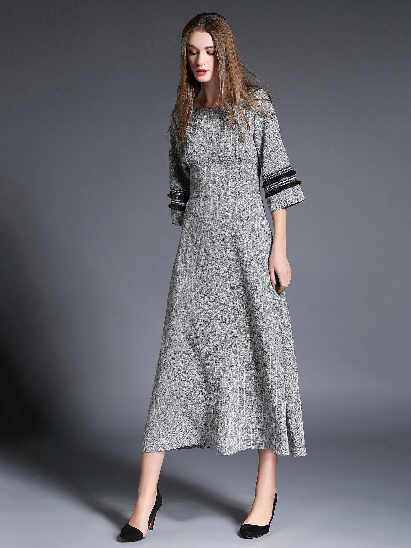 Hidden Pocket Pinstripe Dress hidden pocket striped dress