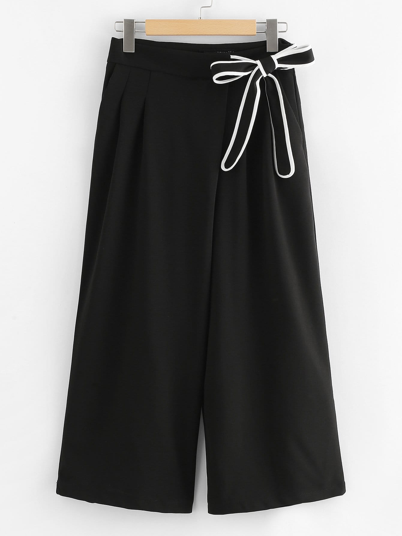 Bow Tie Side Wide Leg Pants bow tie side wide leg pants