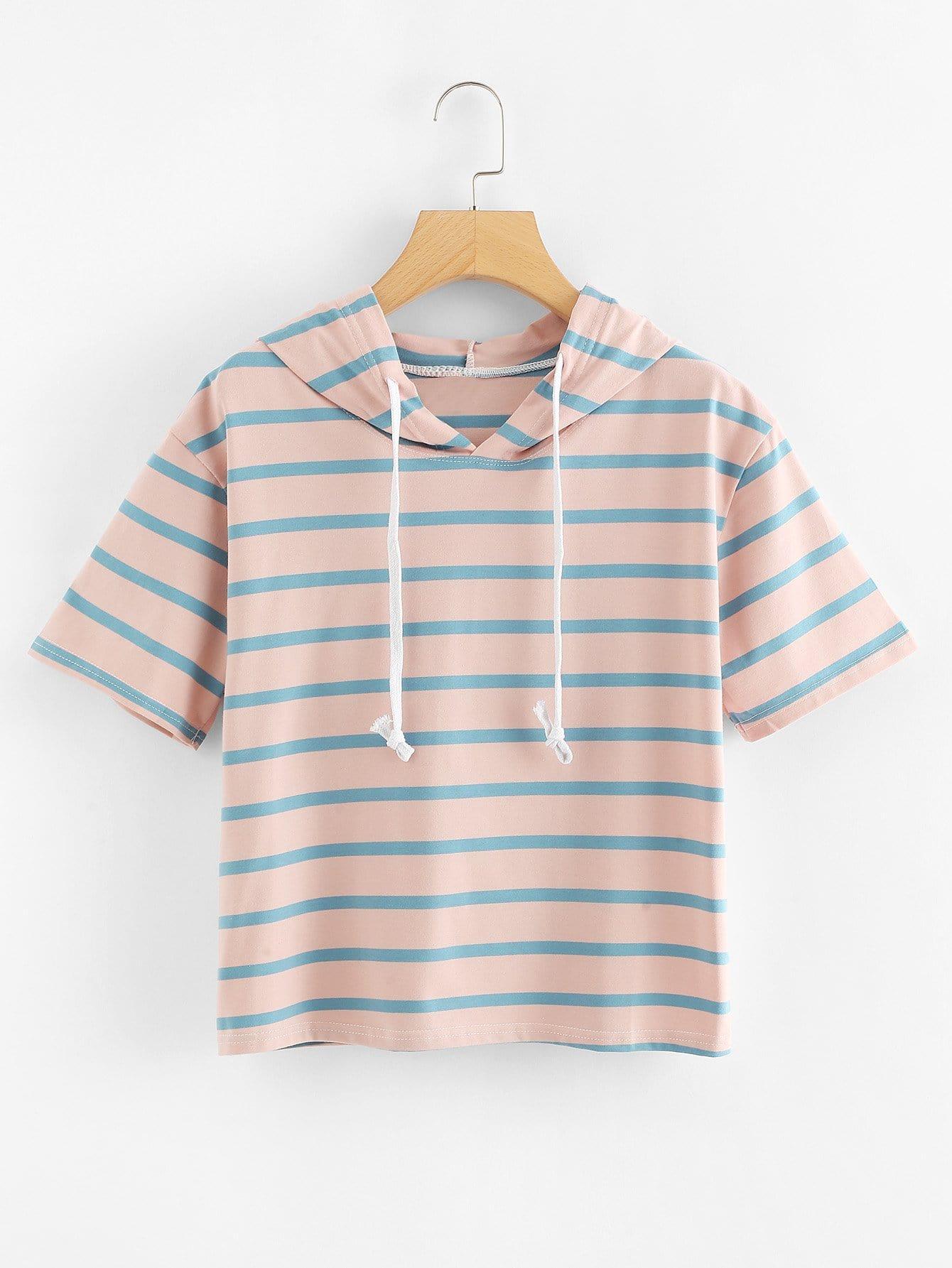 Striped Hooded Tee все цены