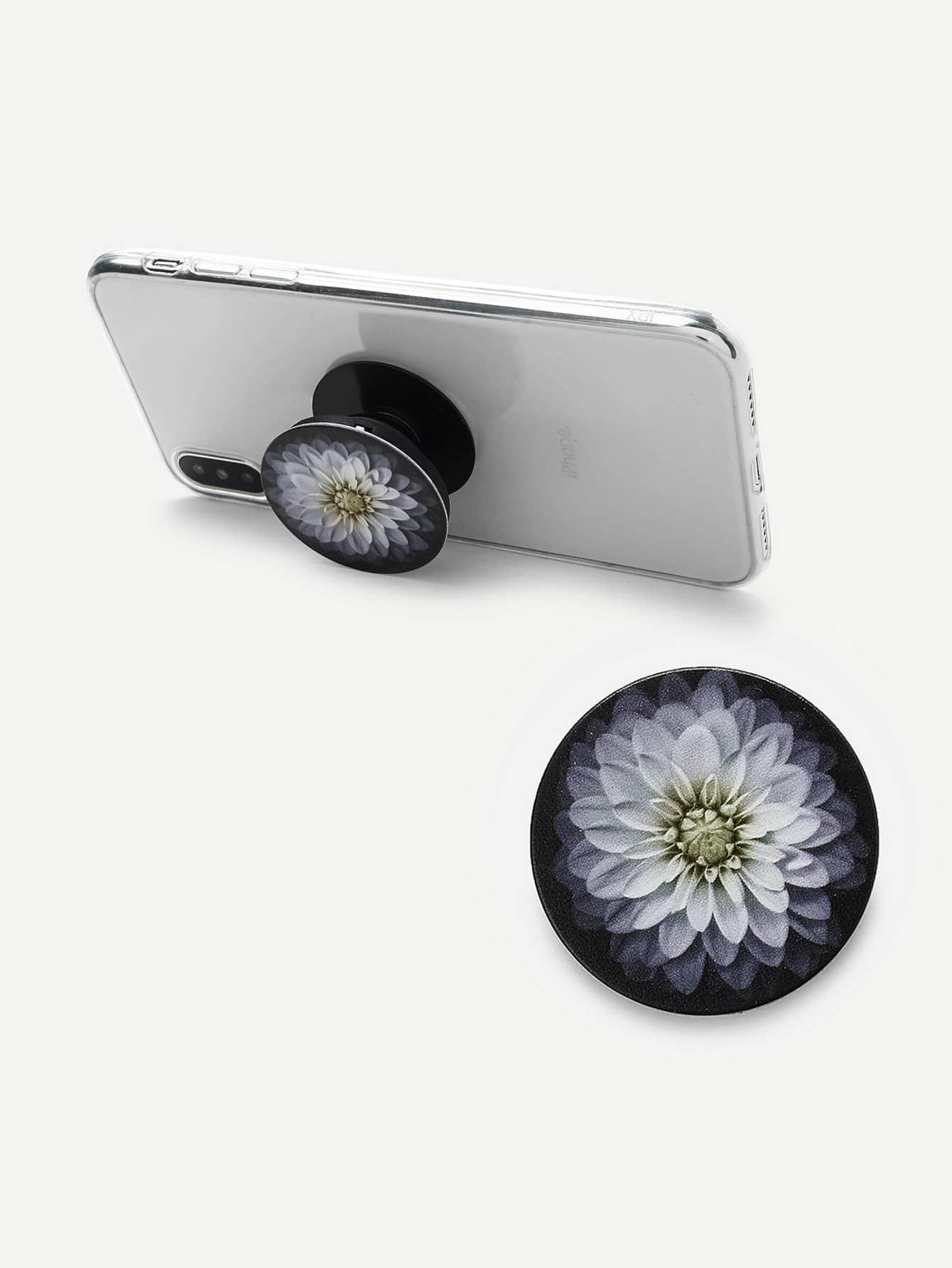 все цены на Flower Print Round Gasbag Phone Holder