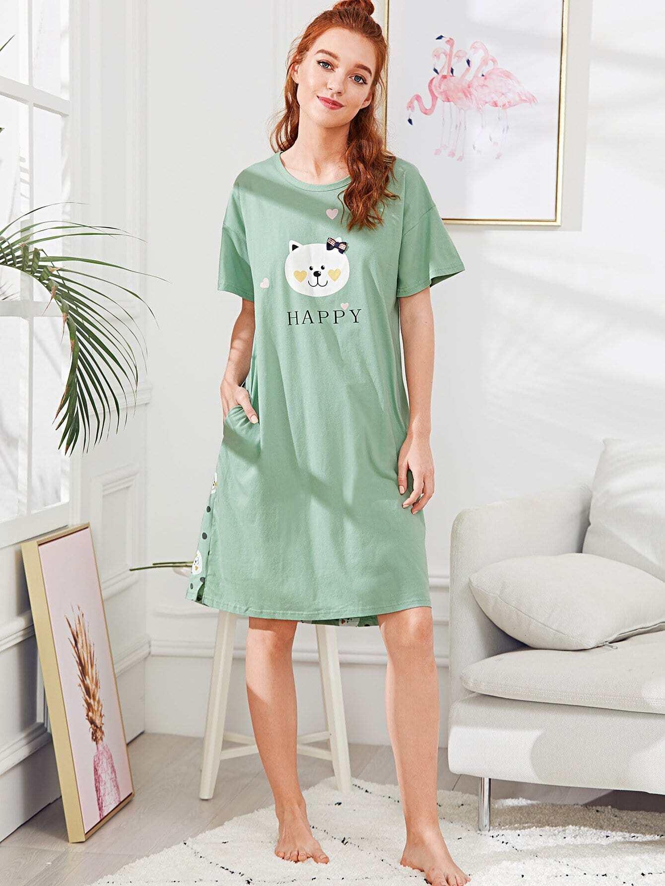 Bear Print Nightdress