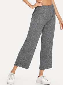 Elastic Waist Wide Leg Pants