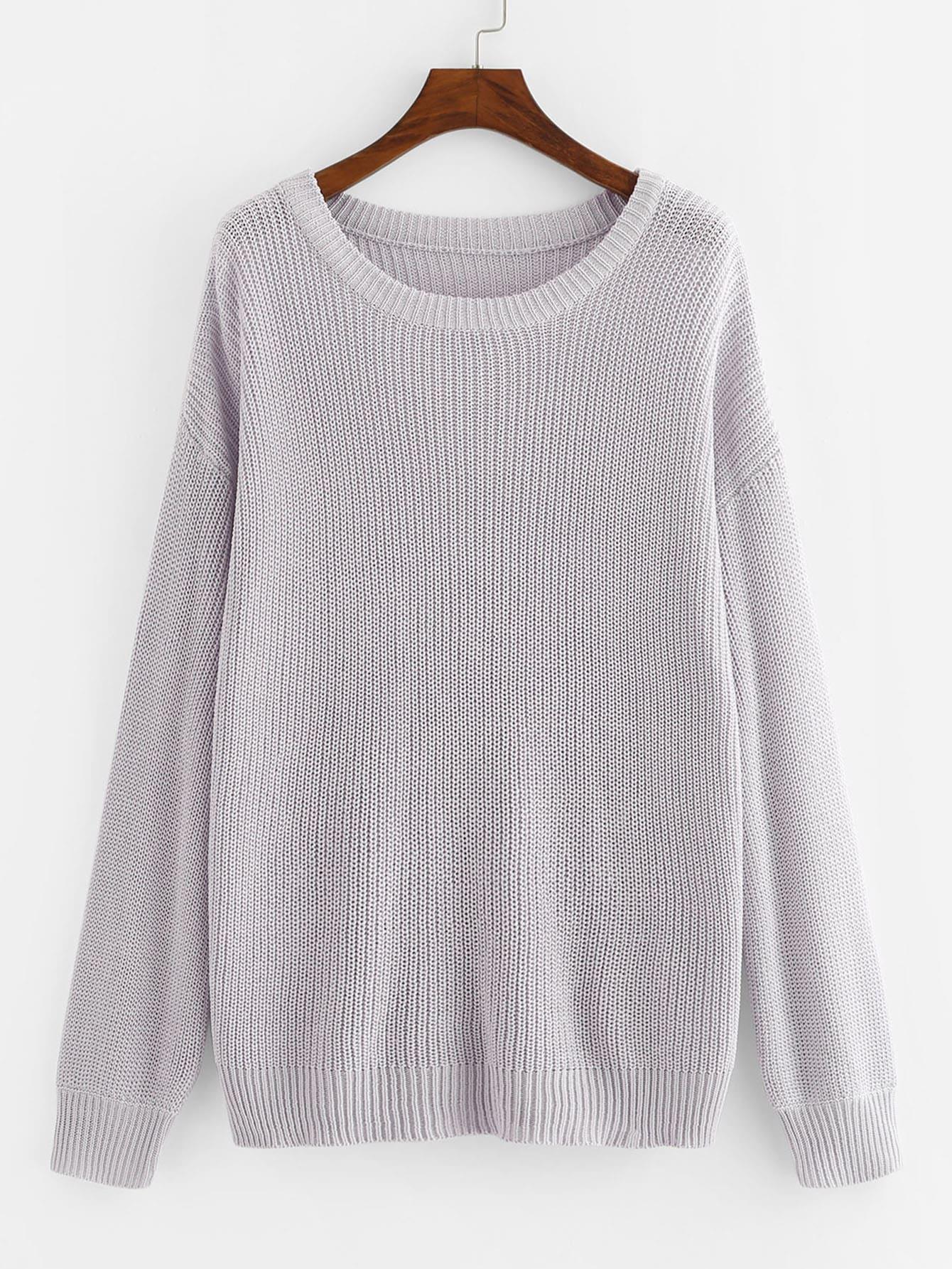 Купить Однотонный свитер, null, SheIn