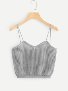 Solid Knit Cami Top