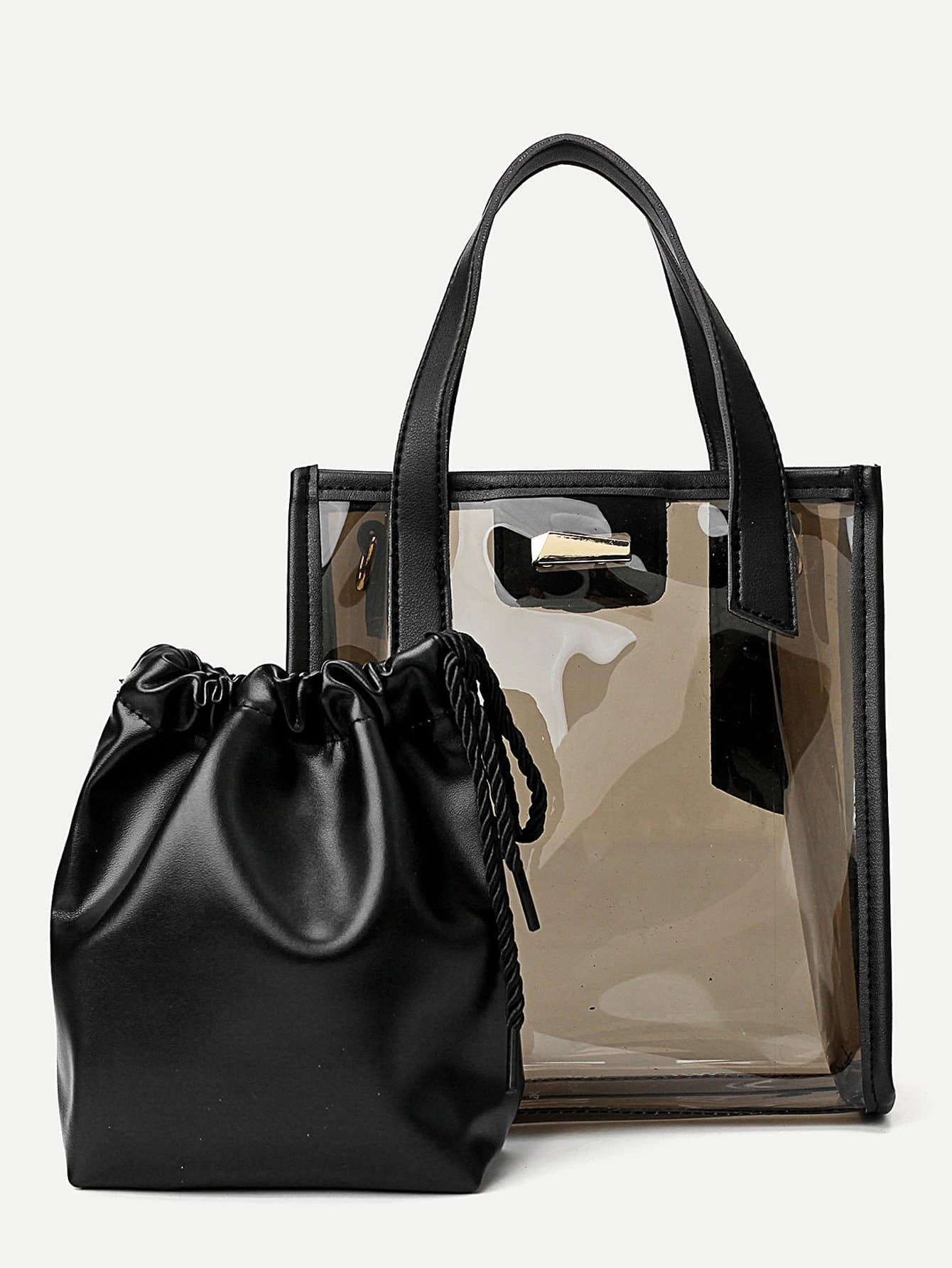 Iridescent Tote Bag With Inner Clutch iridescent tote bag