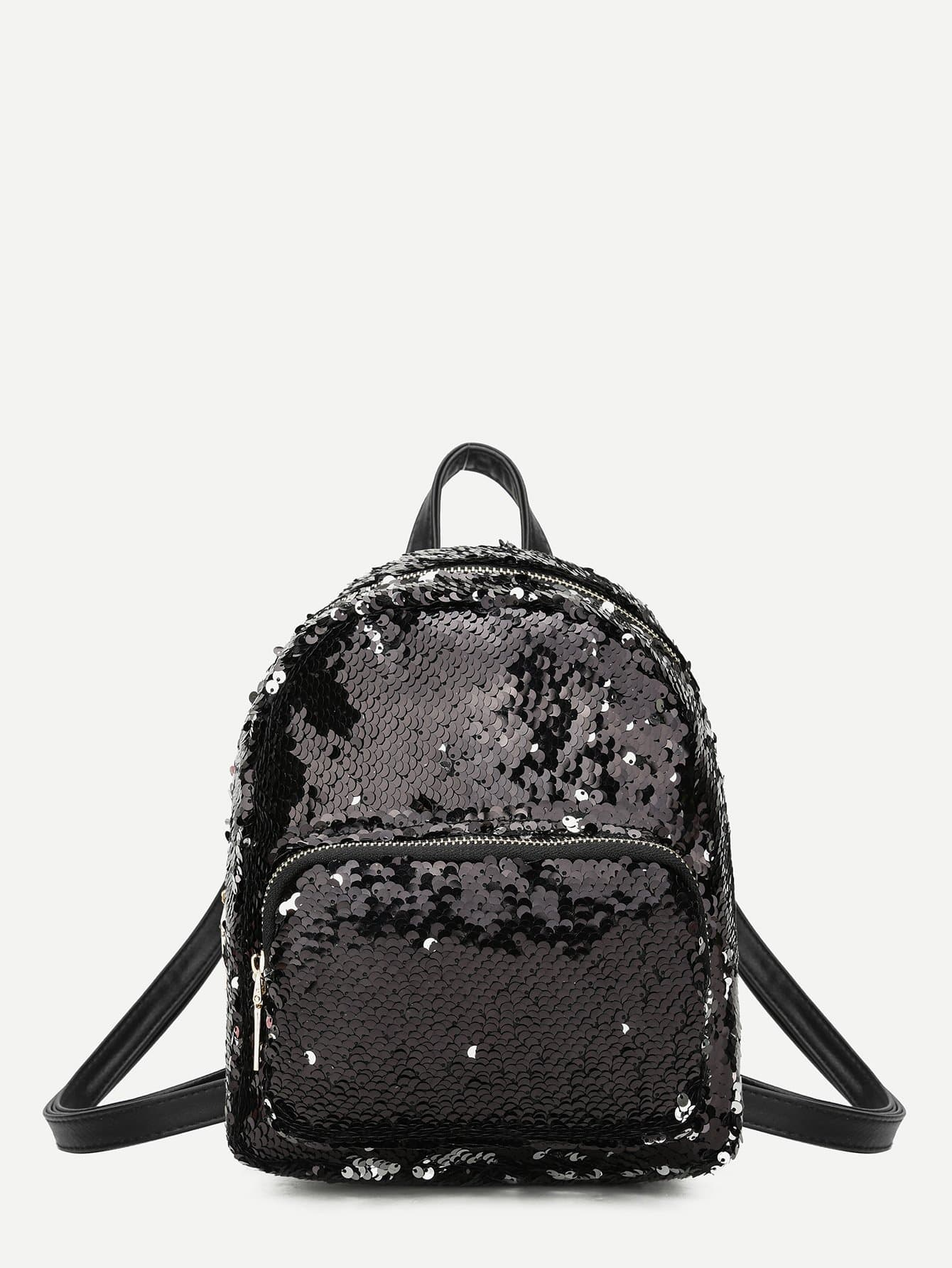 Фото Pocket Front Sequins Backpack sequins