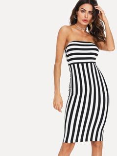 Striped Bandeau Dress