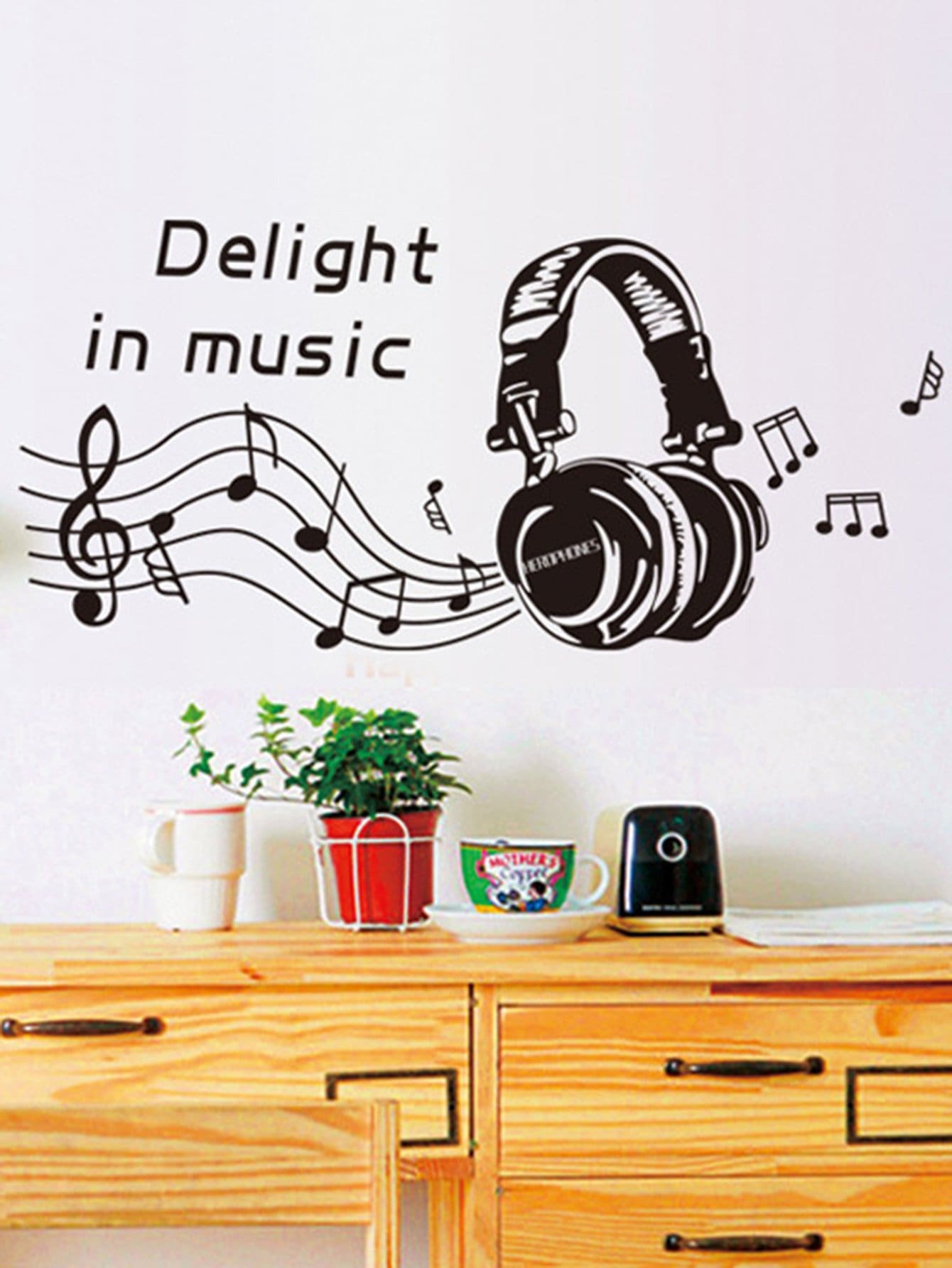 Music Note Wall Decal pastel heart wall decal