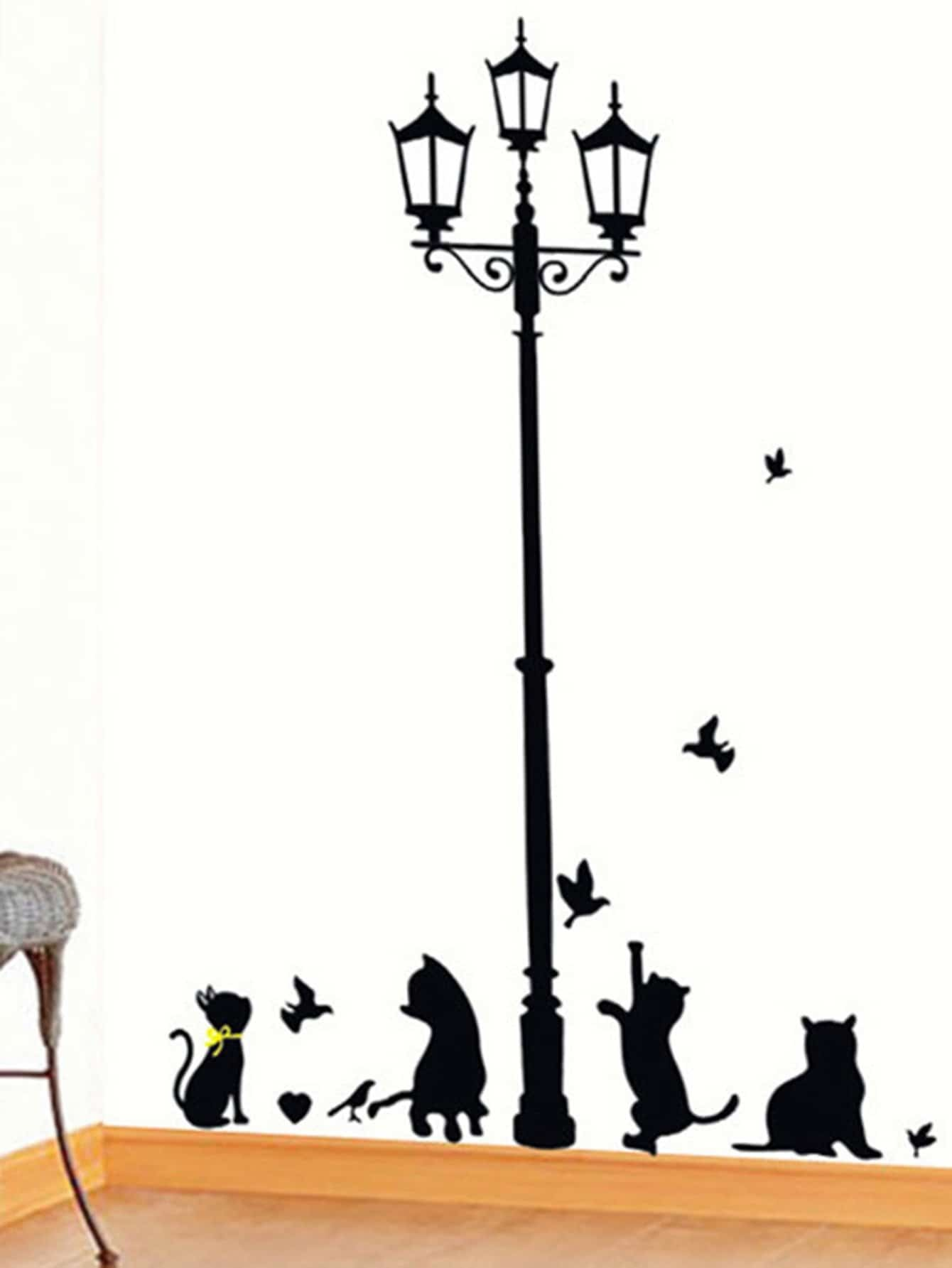Street Lamp Wall Decal pastel heart wall decal