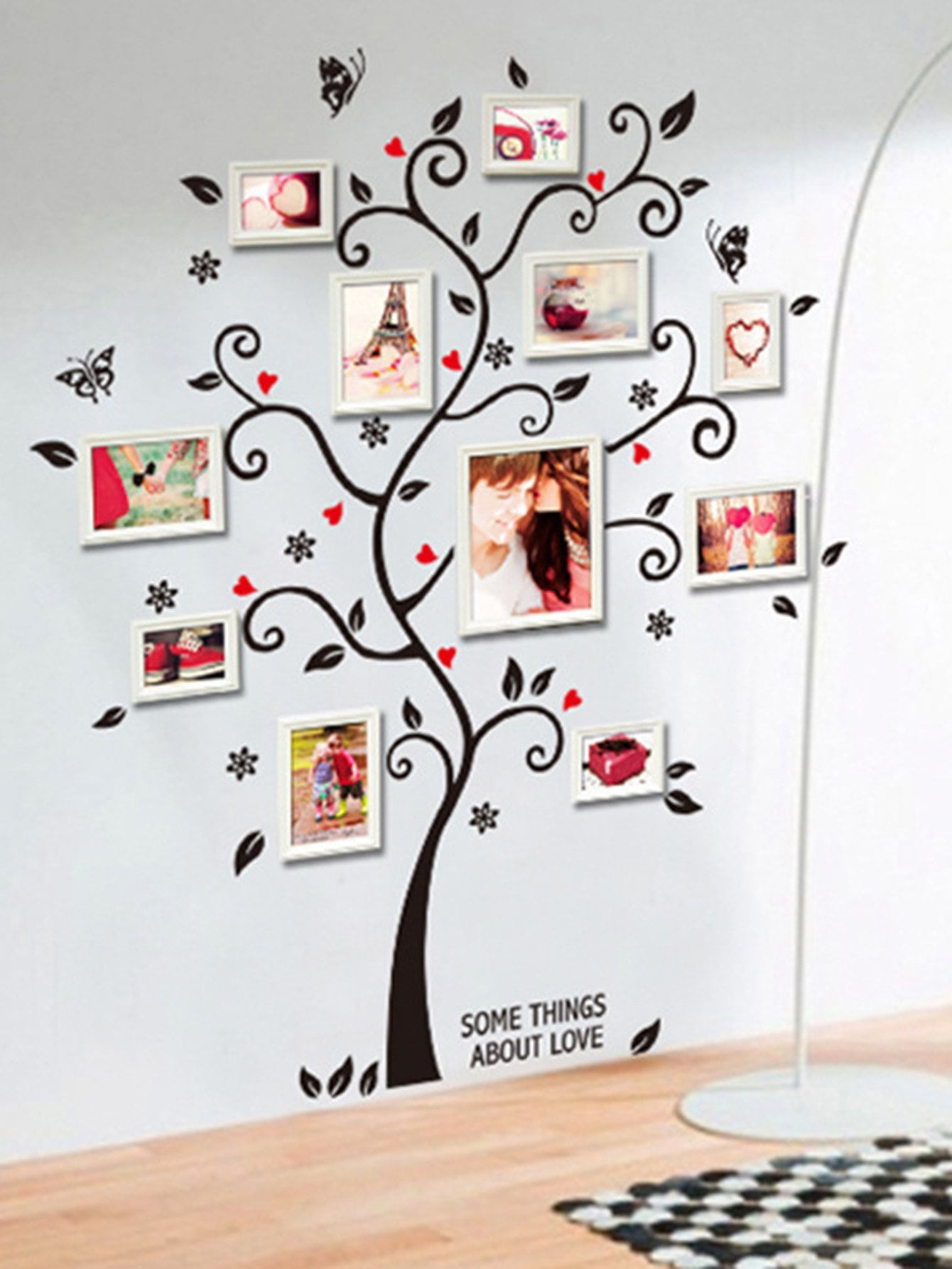 Photo Frame Tree Wall Decal 18 wedding photo frame wall paintings trace hook nail real invisible