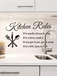 Clear Kitchen Wall Sticker