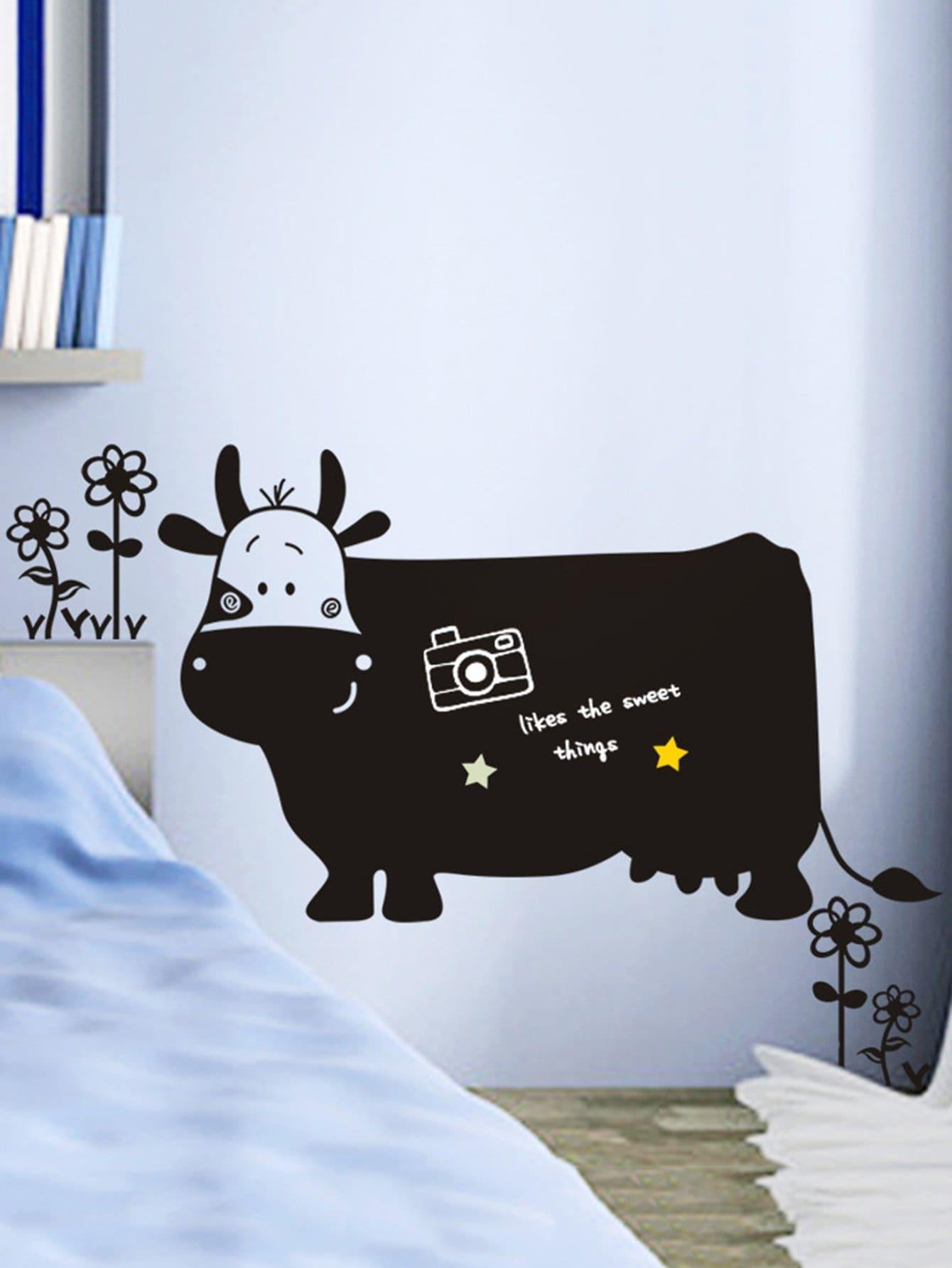 Cartoon Cow Wall Decal