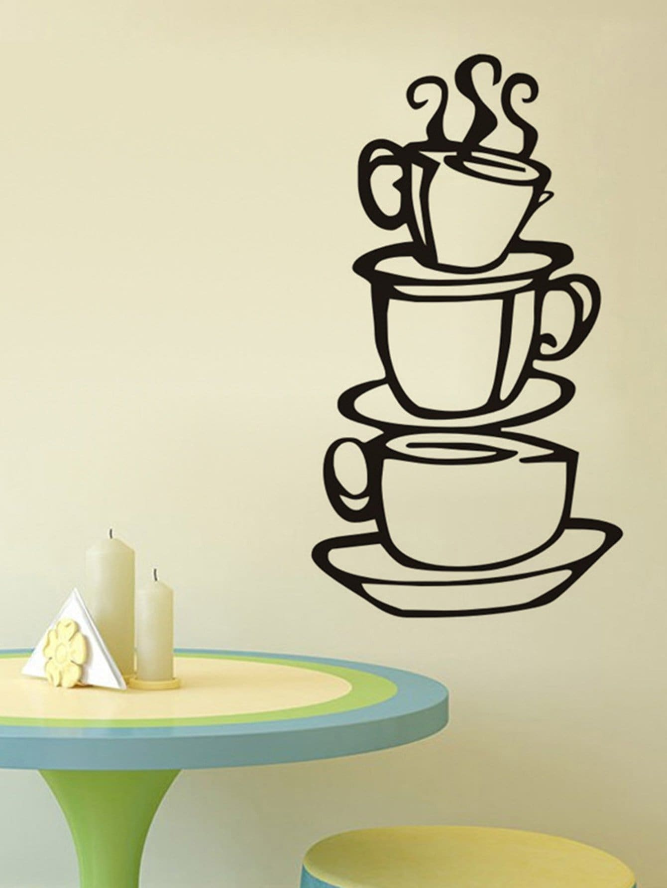 Cup Coffee Wall Decal double wall glass coffee cup