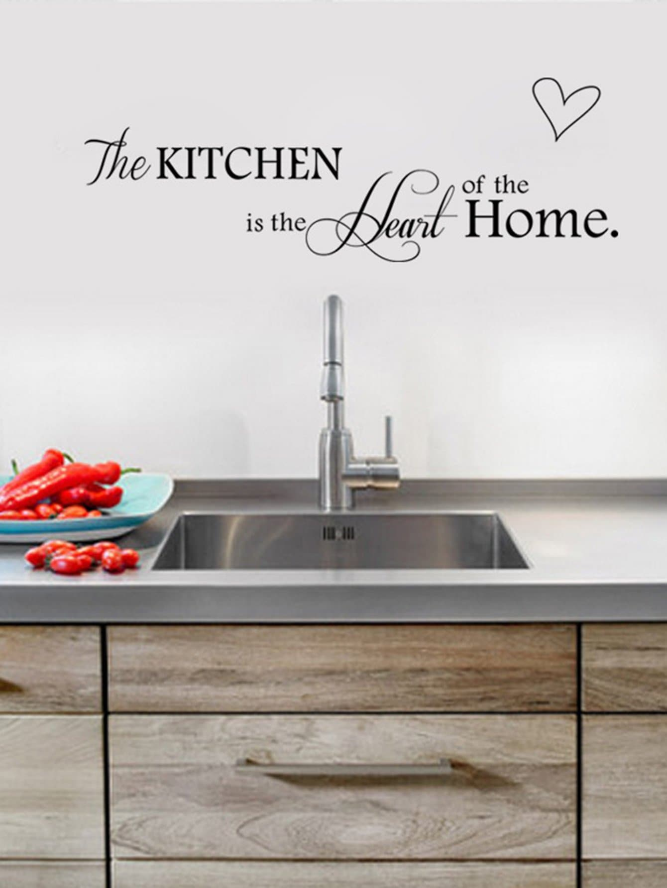 Kitchen Wall Decal family wall quote removable wall stickers home decal art mural