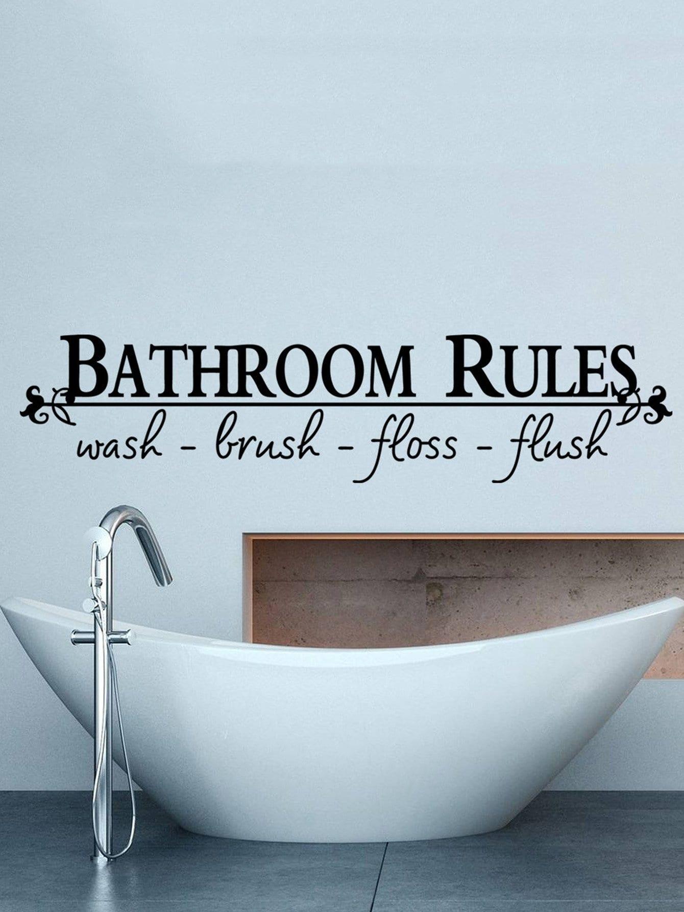 Купить Ванная комната лозунг стены стикер, null, SheIn