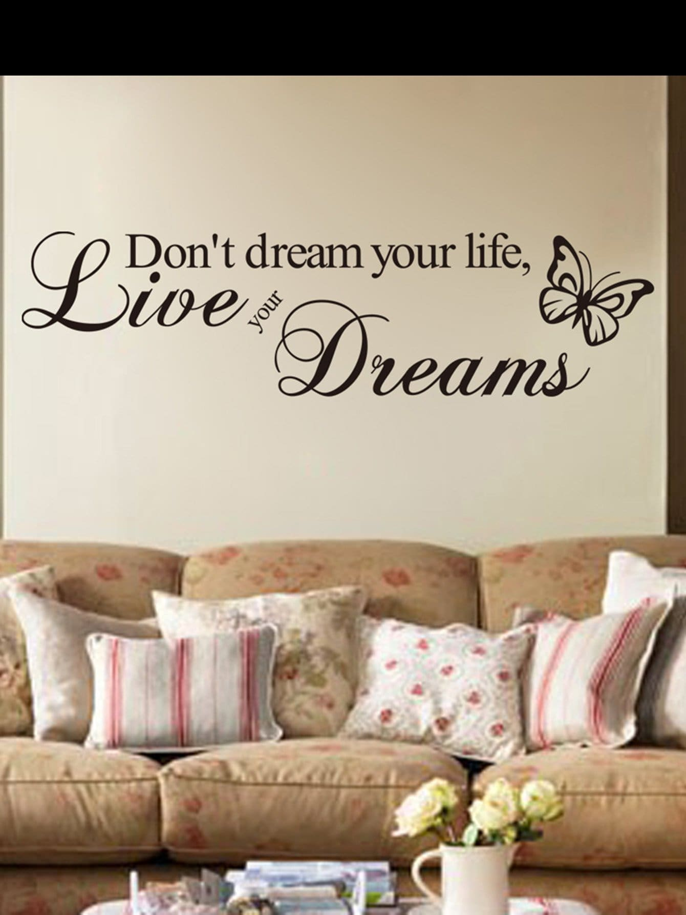 Slogan Wall Decal family wall quote removable wall stickers home decal art mural