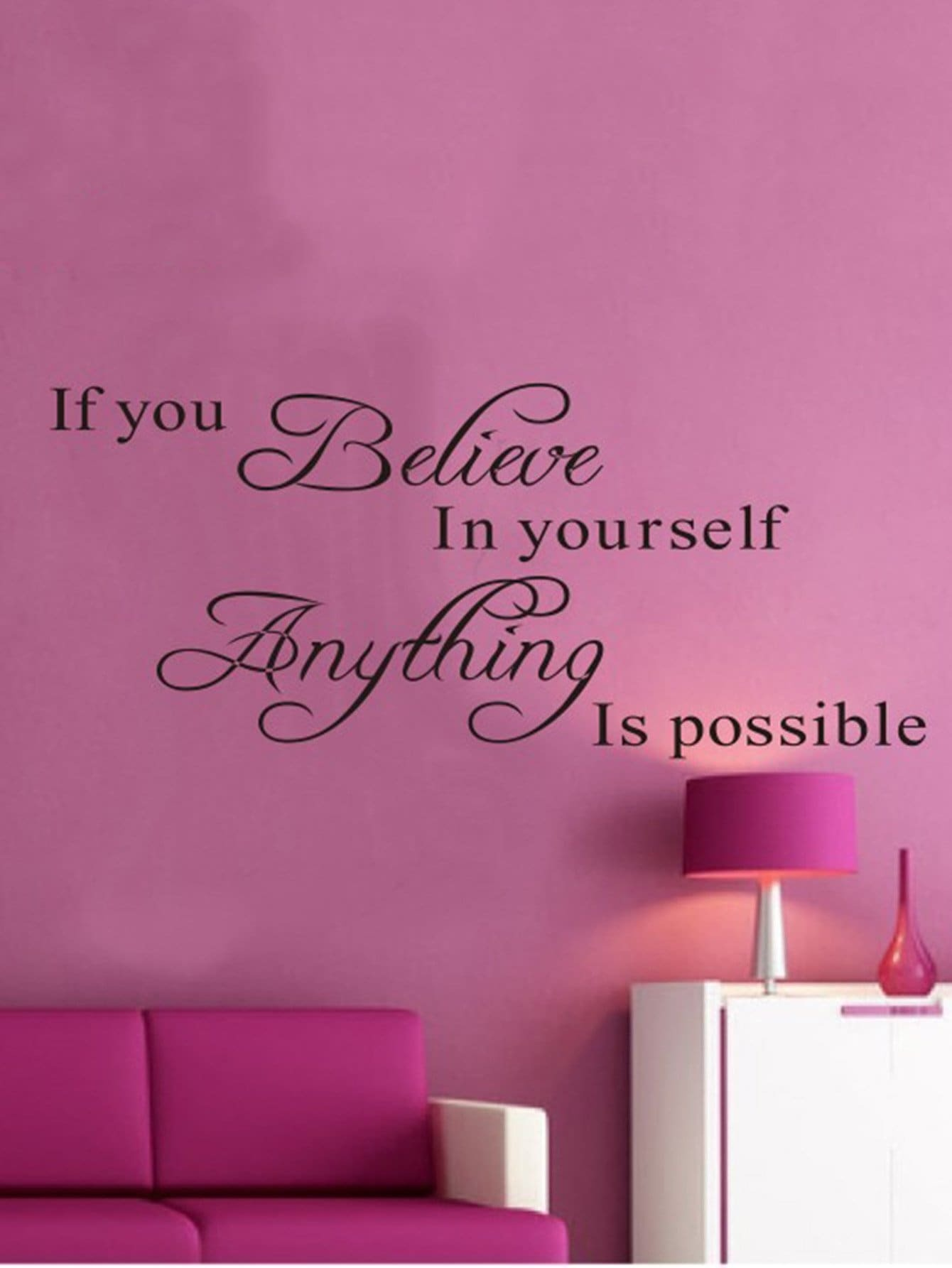 Famous Motto Wall Decal motto wall sticker