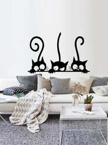 3 Cat Wall Decal