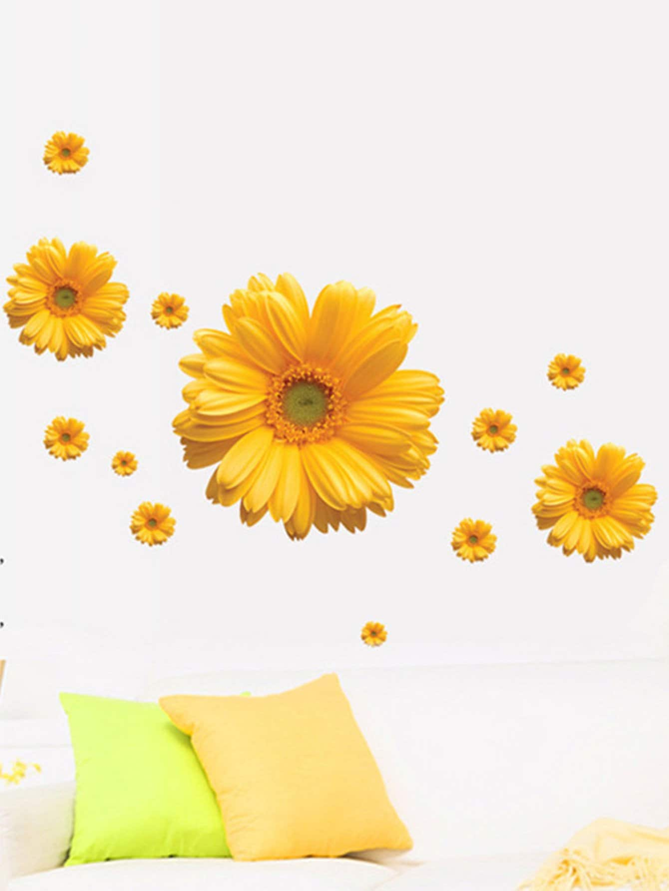 Фото 3D Flower Wall Decal family wall quote removable wall stickers home decal art mural