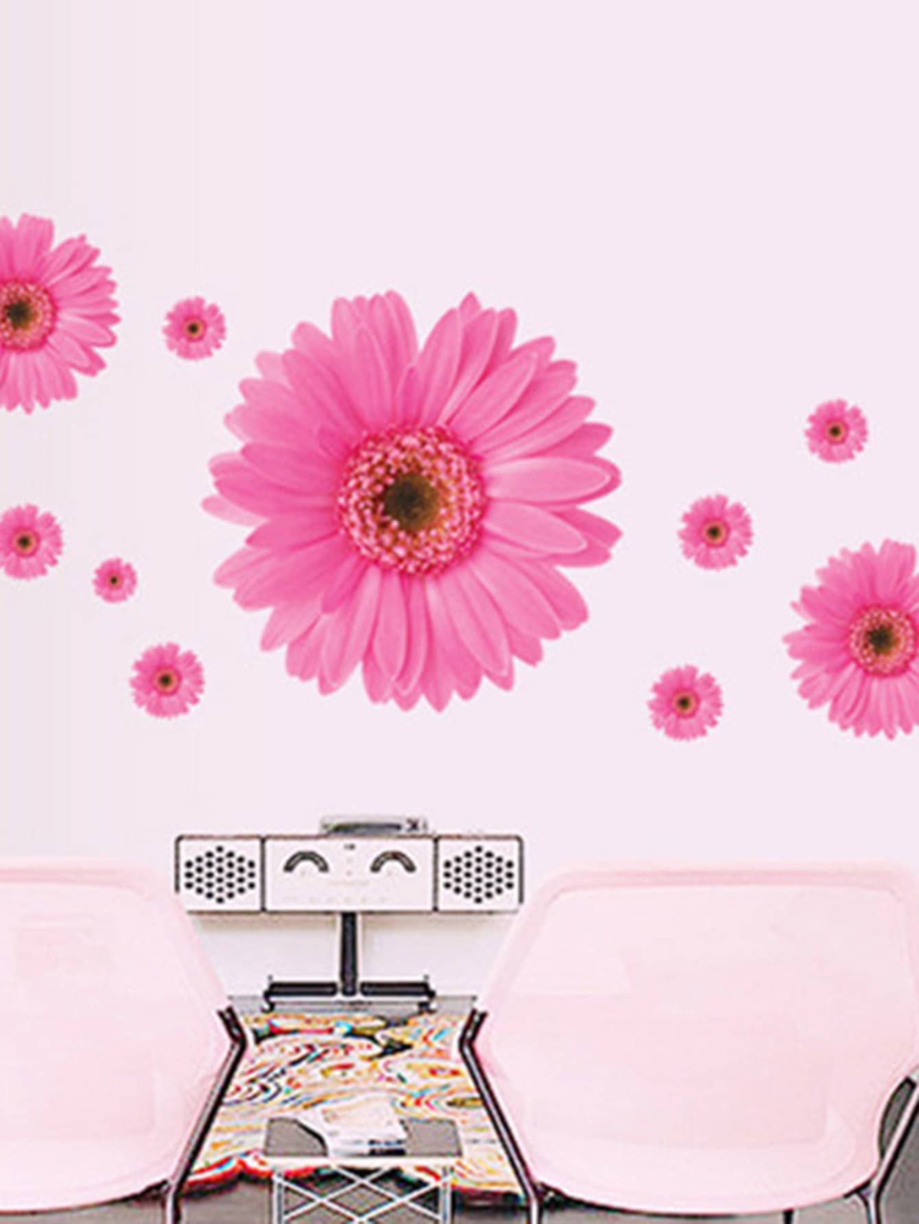 3D Flower Wall Decal family wall quote removable wall stickers home decal art mural