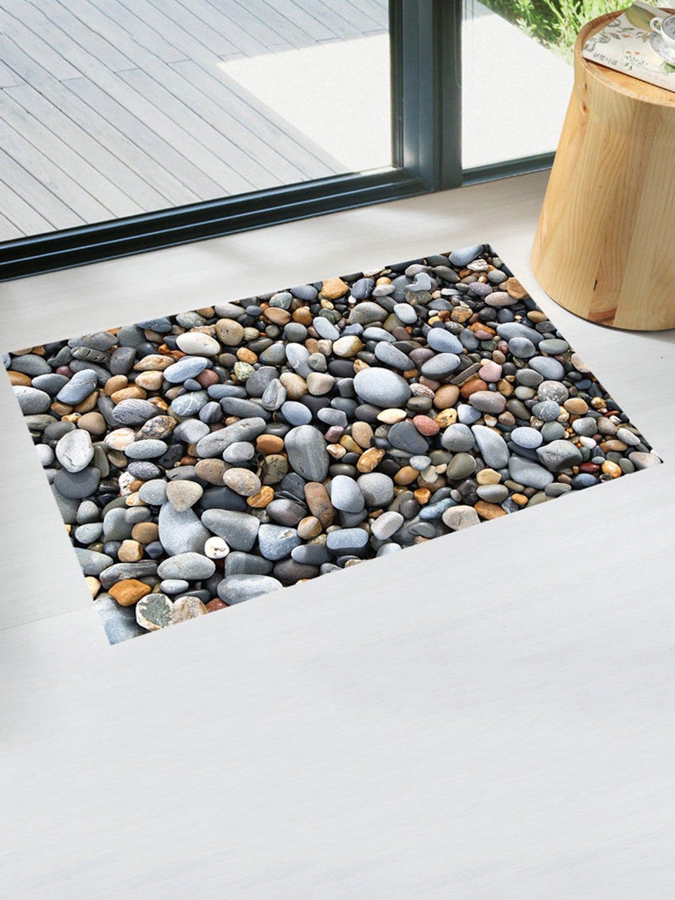 3D Cobblestone Floor Sticker beibehang custom large floor sticker