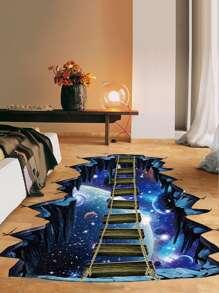 3D Galaxy Floor Sticker