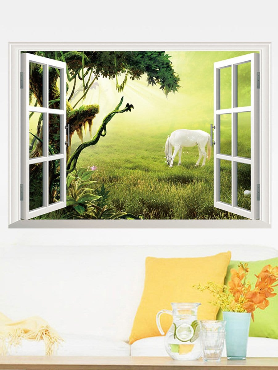 Фото 3D Window Wall Decal family wall quote removable wall stickers home decal art mural